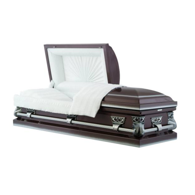 basic casket - antique plum